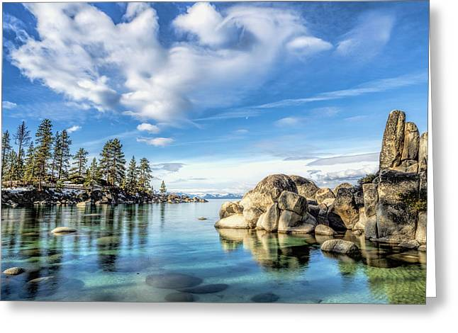 Sand Harbor Morning Greeting Card