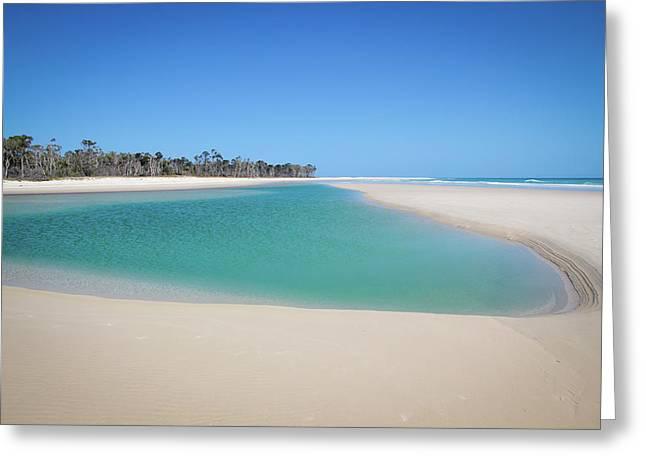 Sand Island Paradise Greeting Card