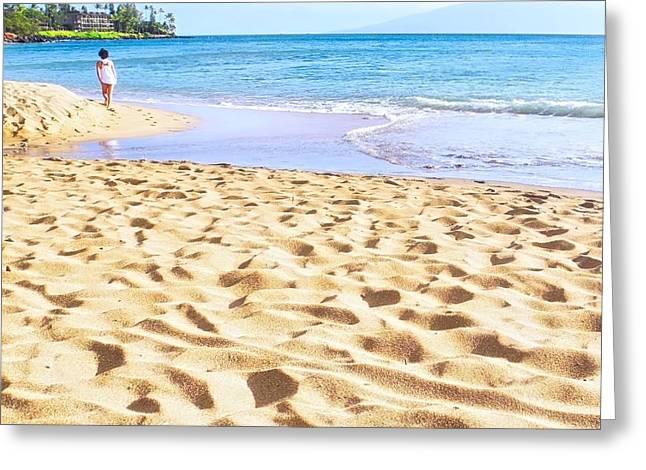 Sand Sea And Shadows Greeting Card
