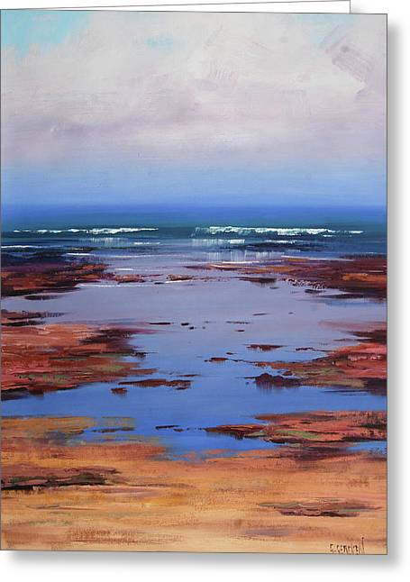 Sand Sea And Sky Greeting Card by Graham Gercken