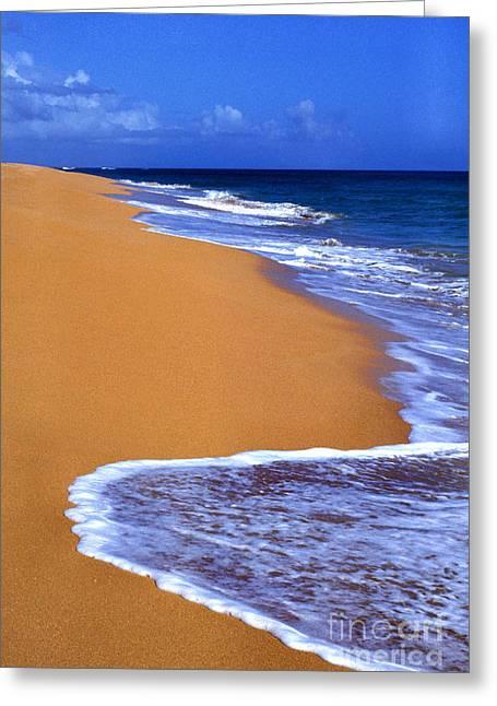 Sand Sea Sky Greeting Card by Thomas R Fletcher