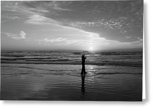 Sand Sea You And Me Greeting Card