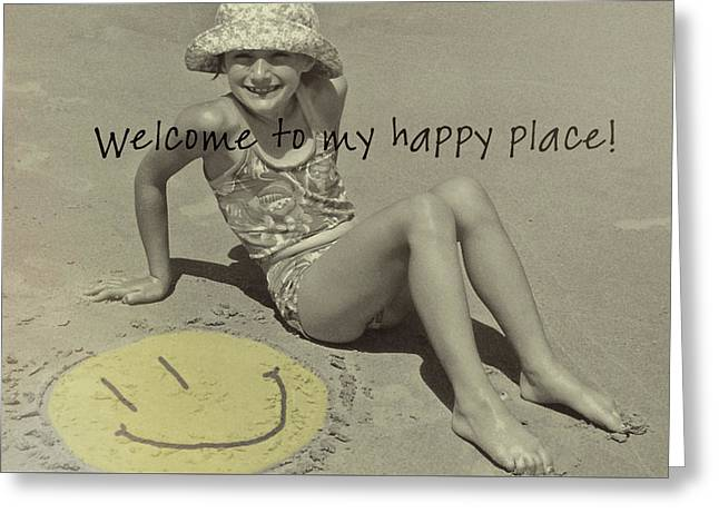 Sand Smile Quote Greeting Card by JAMART Photography