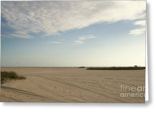 Sand Storm At St. Pete Beach Greeting Card