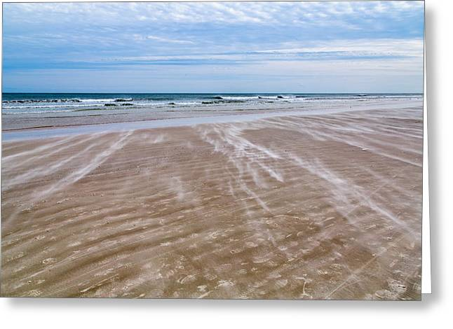 Greeting Card featuring the photograph Sand Swirls On The Beach by John M Bailey
