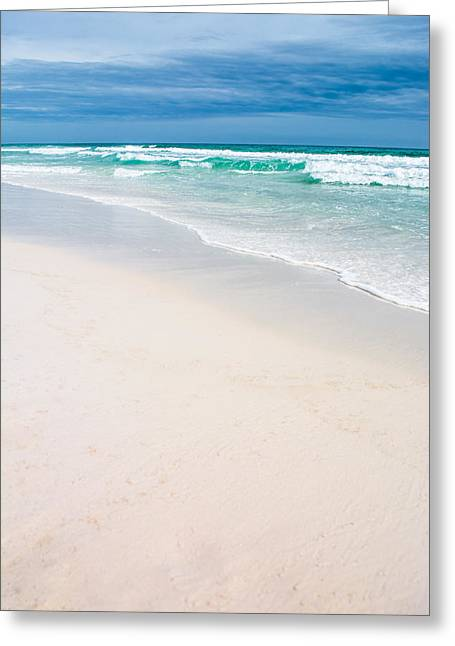 Sand Water And Sky Greeting Card by Shelby Young