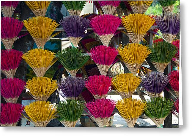 Sandalwood Incense Sticks Greeting Card by Rob Hemphill