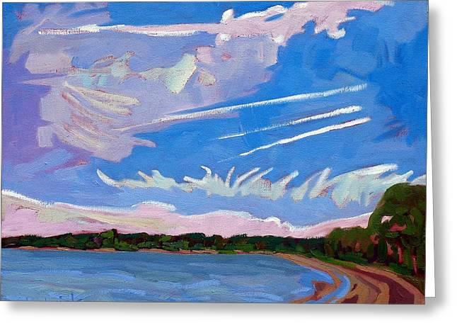 Sandbanks Holiday Sky Greeting Card by Phil Chadwick