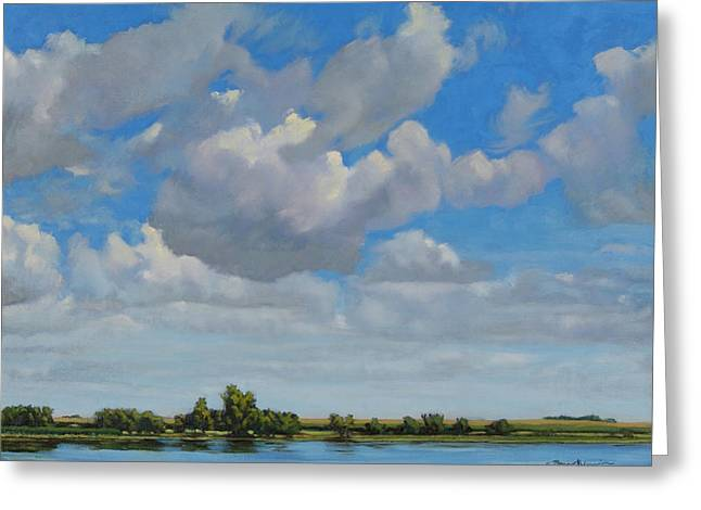 Sandbar Slough July Skies Greeting Card