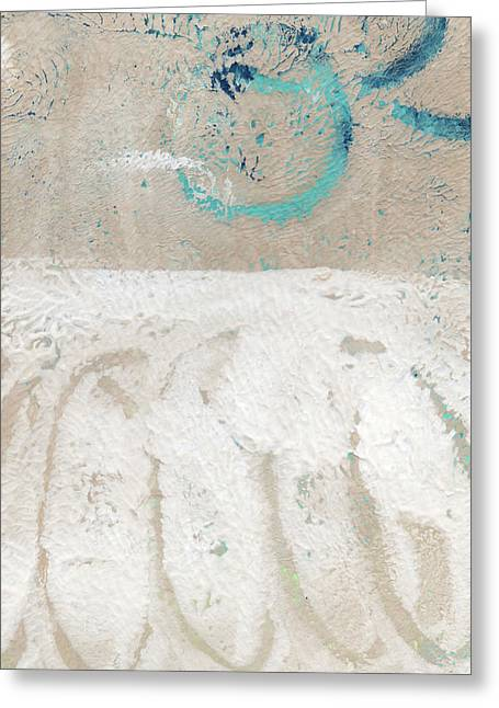 Sandcastles- Abstract Painting Greeting Card