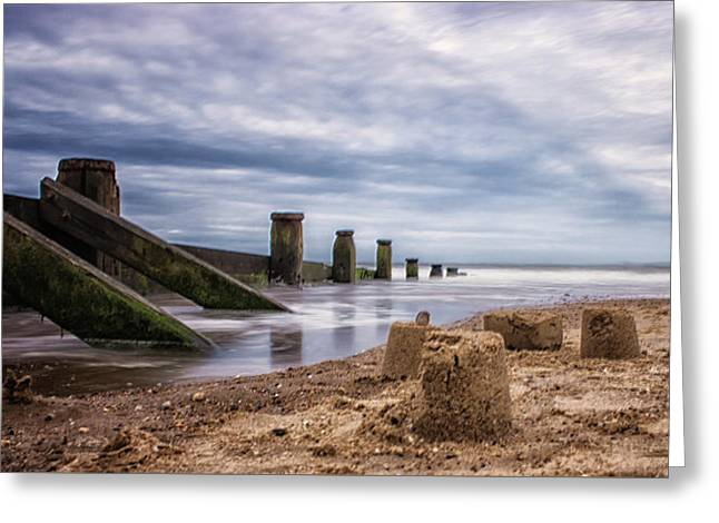 Sandcastles Greeting Card by Martin Newman