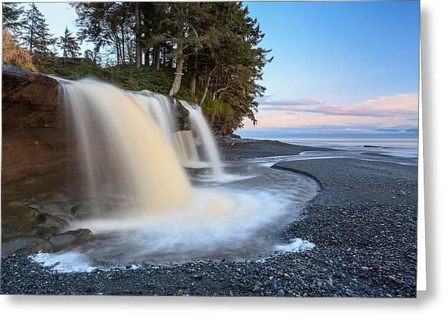 Sandcut Beach Falls I Greeting Card