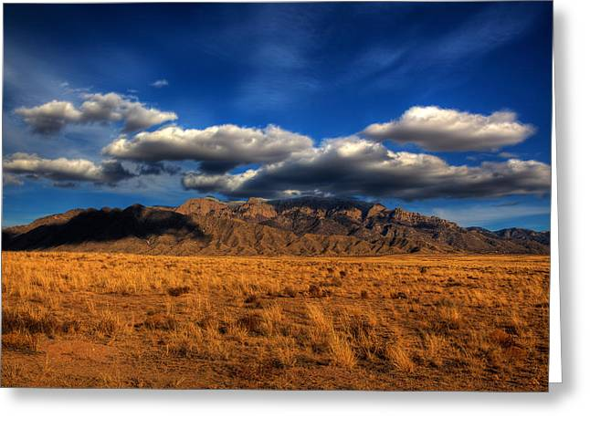 Sandia Crest In Late Afternoon Light Greeting Card