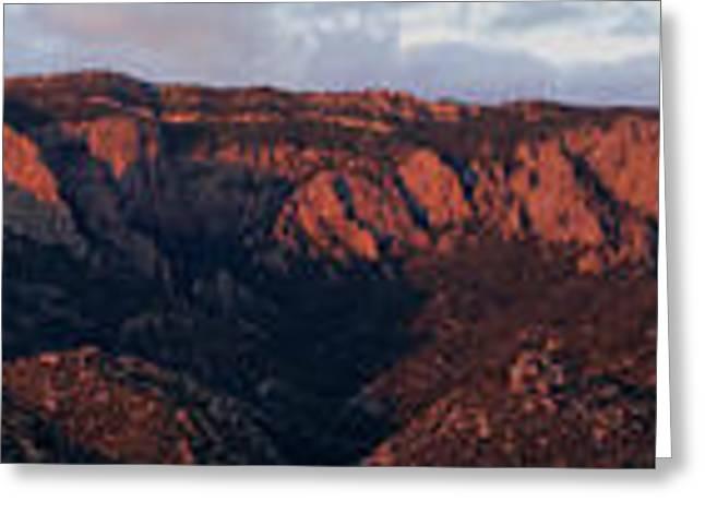 Sandia Sunset Panormaic Greeting Card
