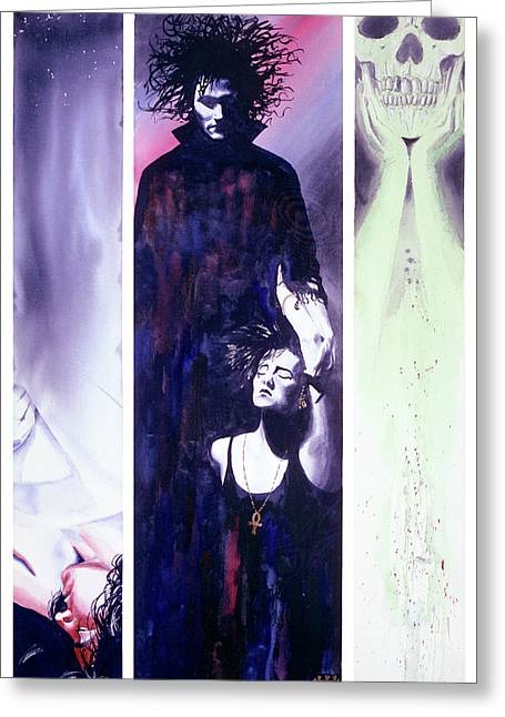 Vertigo Greeting Cards - Sandman Tryptich Greeting Card by Ken Meyer jr