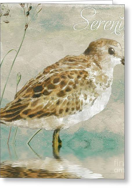 Sandpiper I Greeting Card by Mindy Sommers