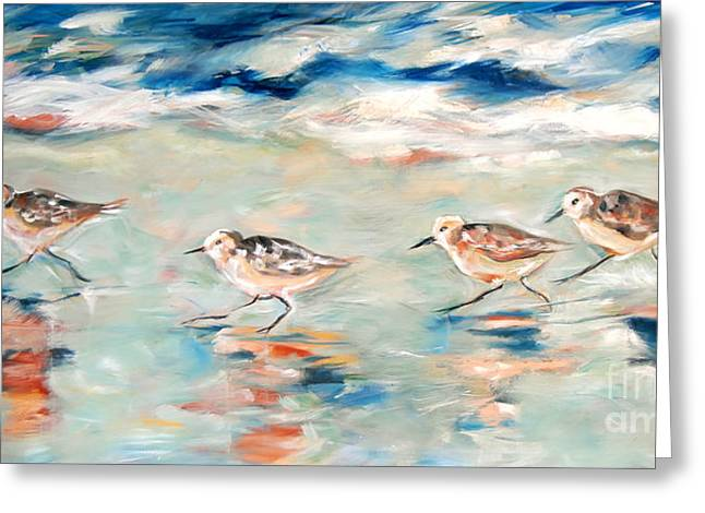 Sandpipers Running Greeting Card
