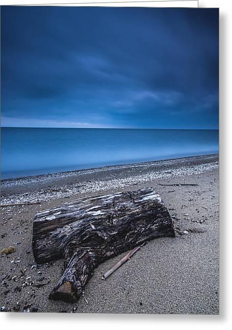 Sandpoint Beach Sunrise Greeting Card