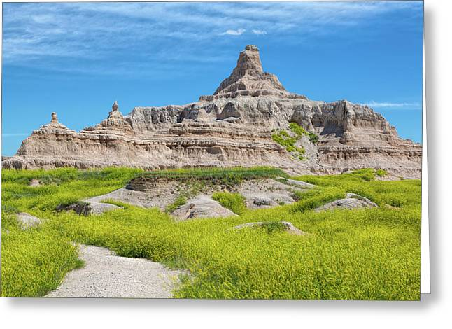 Greeting Card featuring the photograph Sandstone Battlestar by John M Bailey