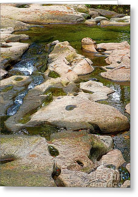 Greeting Card featuring the photograph Sandstone Creek Bed by Sharon Talson