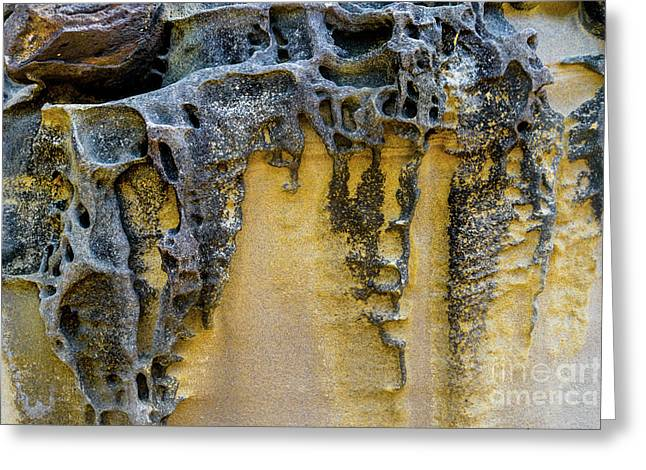 Greeting Card featuring the photograph Sandstone Detail Syd01 by Werner Padarin