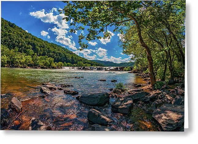 Sandstone Falls West Virginia 3 Greeting Card by Steve Harrington