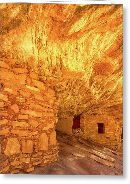 Sandstone Fire Greeting Card