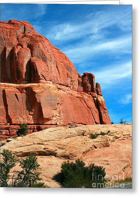 Sandstone Formations Arches National Park Greeting Card