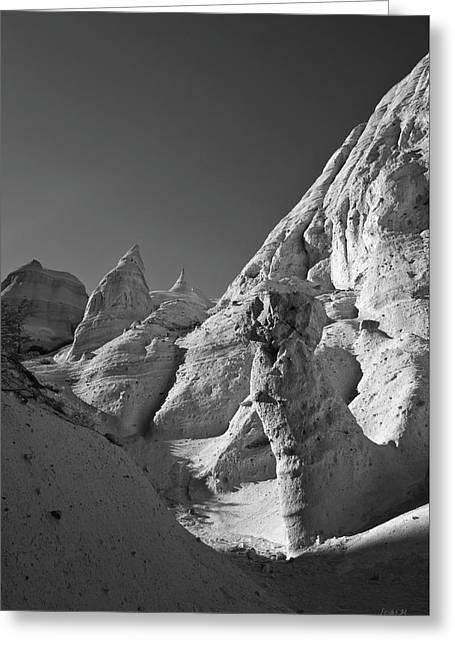 Sandstone Landscape I Bw Greeting Card by David Gordon