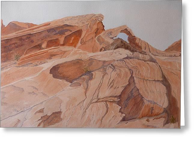 Sandstone Rainbow Greeting Card by Joel Deutsch