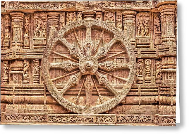 Sandstone Wheel - Hdr Greeting Card by Nila Newsom