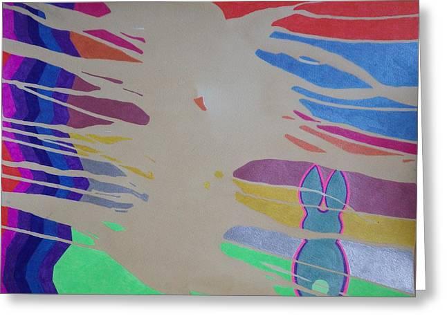 Sandstorm Rabbit Greeting Card by Peter Adam