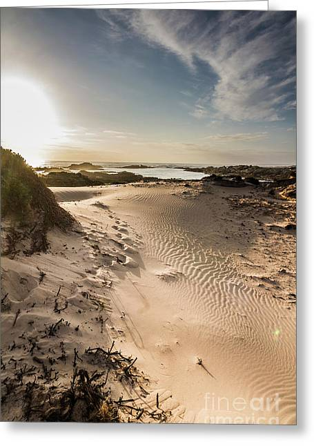 Sandy Beach Haven Greeting Card