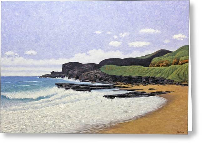 Sandy Beach Oahu Greeting Card by Norman Engel