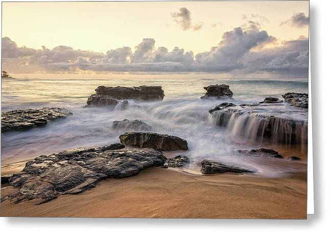 Sandy Beach Sunrise 3 - Oahu Hawaii Greeting Card