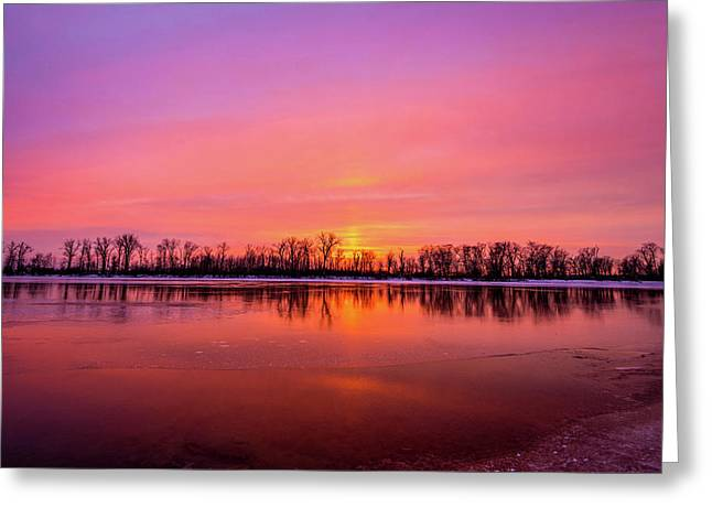 Sandy Chute Sunset Greeting Card