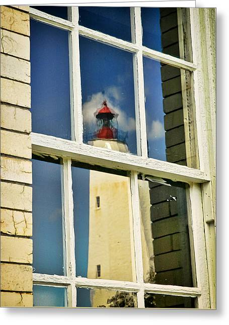Sandy Hook Lighthouse Reflection Greeting Card