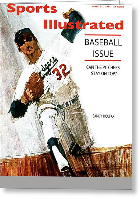 Sandy Koufax, Sports Illustrated Cover, April 13, 1964 Greeting Card
