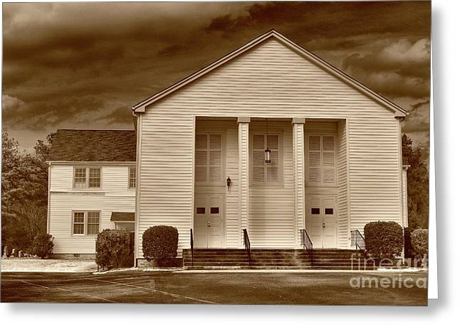 Sandy Level Baptist In Sepia Tones Greeting Card