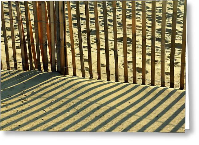 Sandy Pinstripes Greeting Card by JAMART Photography