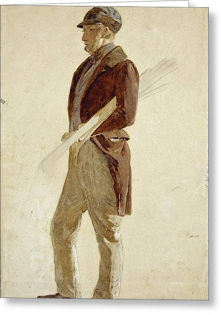 Sandy Pirrie, Active 1847. Golfer Greeting Card