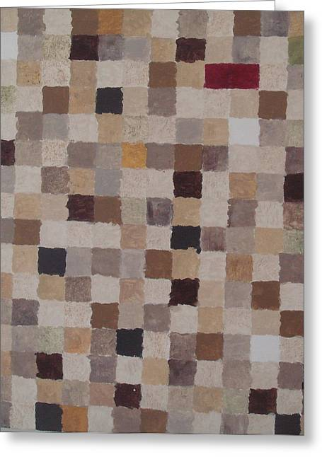 Sandy Squares Greeting Card by Wendy Peat