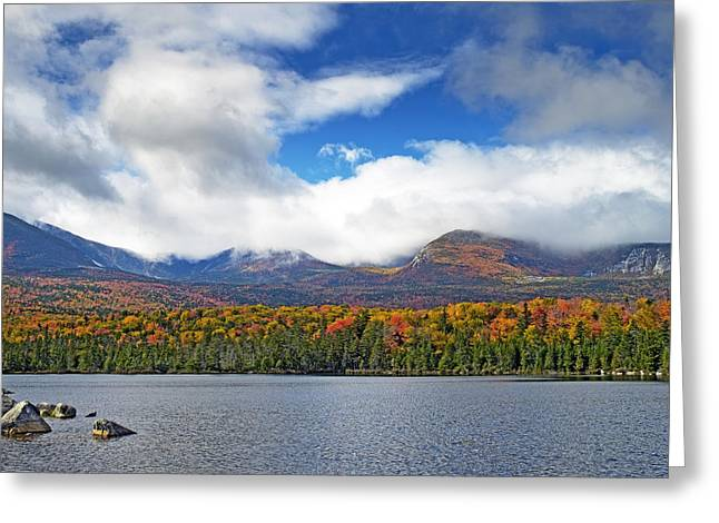 Sandy Stream Pond In Baxter State Park Maine Fall Greeting Card by Brendan Reals