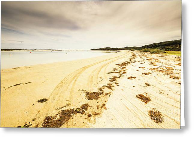 Sandy Tasmanian Shores Greeting Card