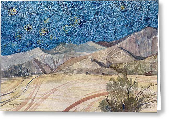 Sandy Track Greeting Card by Vaughan Davies