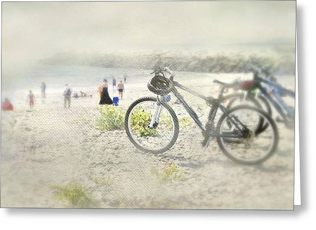 Sandy Wheels Greeting Card by Diana Angstadt