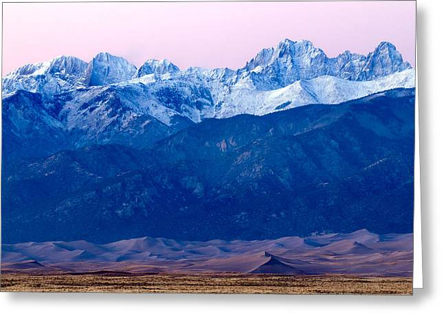 Sangre De Christo And The Great Sand Dunes National Park Greeting Card
