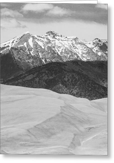 Sangre De Cristo Mountains And The Great Sand Dunes Bw V Greeting Card by James BO  Insogna