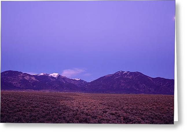 Sangre De Cristo Mountains At Sunset Greeting Card by Panoramic Images