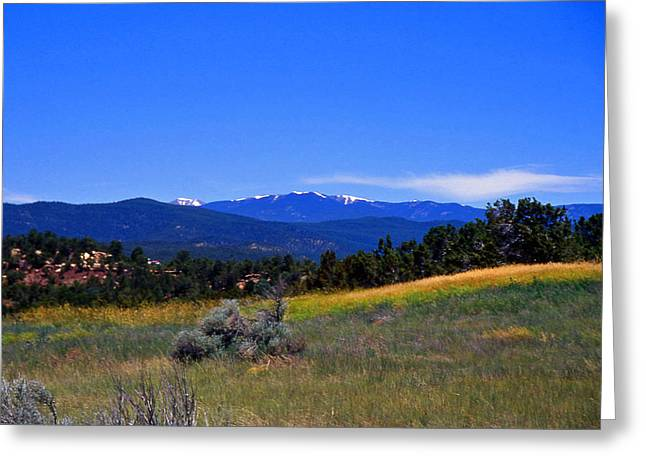 Sangre De Cristos Mountains New Mexico Greeting Card by Randy Muir